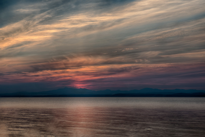August 17 - Dawn Light across Lake Champlain