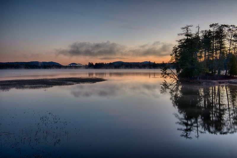 October 27 - Racquette Lake in the Adirondacks